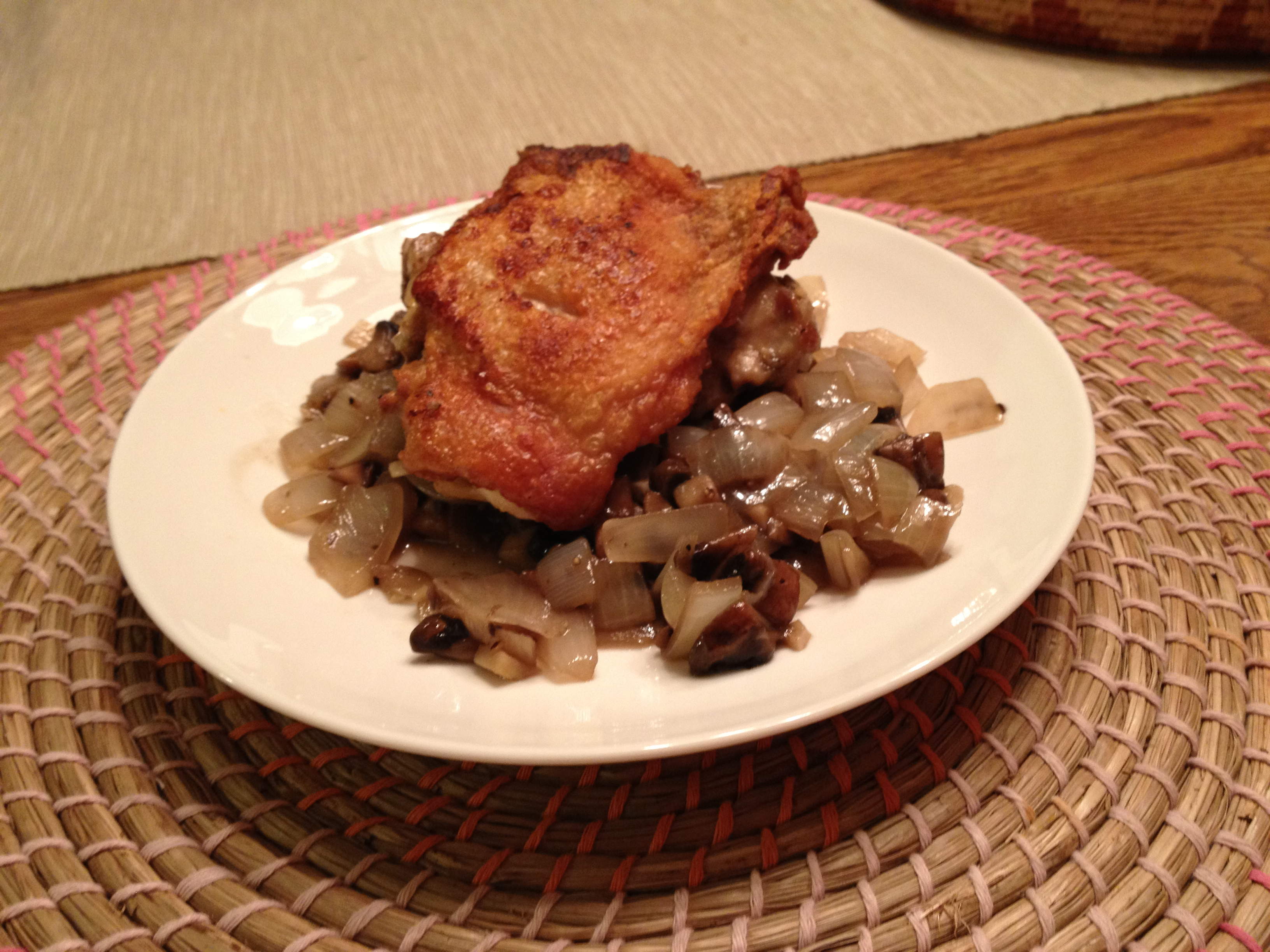 Old-fashioned Chicken Fricasse With Wine-flavored Cream Sauce, Onions ...